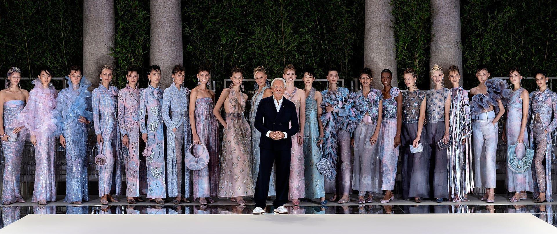 Giorgio Armani SS 2020 Fashion Show. Credit: Armani